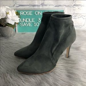 Joie Jacey Suede Gray Sock Stretchable Bootie 41